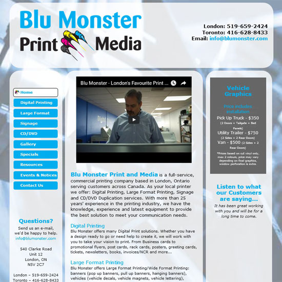 Back2Front Portfolio Client - Blu Monster Media